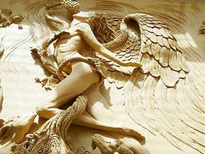 تابلو سفال طرح فرشته