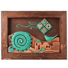 عرضه تابلو سفال چوبی